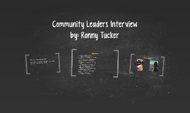 Community Leaders Interview