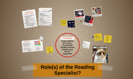 Role(s) of the Reading Specialist?