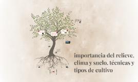 Copy of importancia del relieve clima y suelo. técnicas y tipos de c