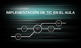 Copy of IMPLEMENTACIÓN DE TIC EN EL AULA