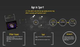 Age in Sport