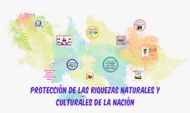 Protección de los recursos naturales y culturales de la nación