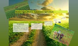 Modern agriculture v.