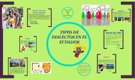 Copy of TIPO DE DIALECTOS EN EL ECUADOR