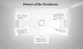 Powers of the Presidency