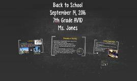 Back to School- AVID