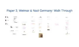 Paper 3: Weimar & Nazi Germany