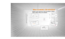 Bilan d'activités 2014-15