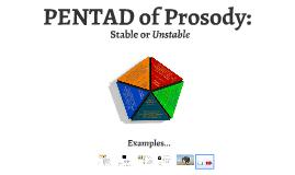 PENTAD of Prosody