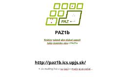 PAZ1b - organizácia (2016/2017)