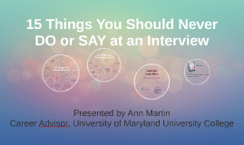 Copy of 15 things You Should Never DO or Say at an Interview