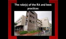 RA Class - roles and responsibilities: Tem