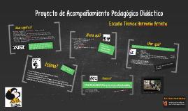 Proyecto de Acompañamiento Pedagogico Didáctico