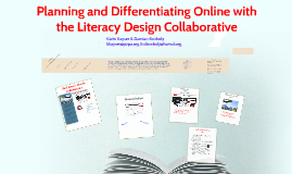 Planning ad Differentiating Online with the Literacy Design