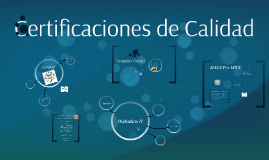 Copy of Certificaciones