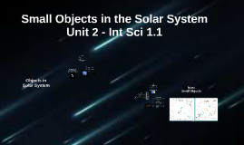 Int Sci 1.1 - Unit 2 - Small Objects in Solar System