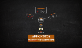 APP VTVCAB ON KIDS
