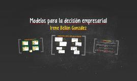 Modelos para la decisión empresarial
