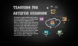 Copy of Teaching for Artistic Behavior