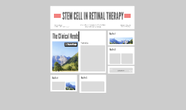 STEM CELL IN RETINAL THERAPY