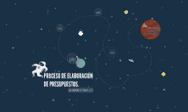 PROCESO DE ELABORACION DE PRESUPUESTOS