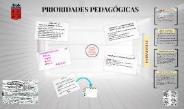 PRIORIDADES PEDAGÓGICAS