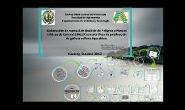 Elaboración de manual de Análisis de Peligros y Puntos Críticos de Control (HACCP) en una línea de producción de galleta