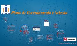Plano de Recrutamento e Seleção