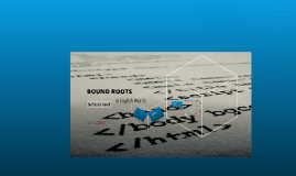 Bound Roots in English Words