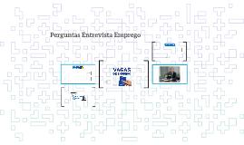 PERGUNTAS CHAVES - ENTREVISTA DE EMPREGO