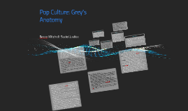 Pop Culture: Greys Anatomy