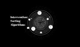 Intervention: Sorting Algorithms