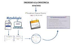 INGRESO A LA DOCENCIA 2014/2015