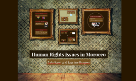 Human Rights Issues in Morocco