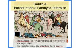 Cours 4 - Introduction à l'analyse littéraire