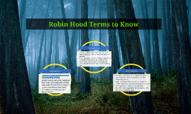 Copy of Robin Hood Terms