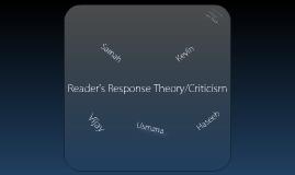 ENG4U1 - Reader's Response Presentation