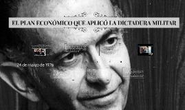 EL PLAN ECONÓMICO QUE APLICÓ LA DICTADURA MILITAR