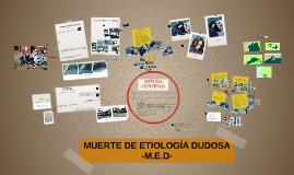 MUERTE DE ETIOLOGÍA DUDOSA