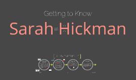 Sarah Hickman - Résumé