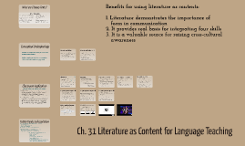 Ch. 31 Literature as Content for Language Teaching