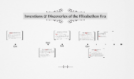 inventions in Elizabethan England
