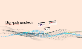 Digi-pak analysis
