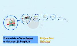 Ebola crisis in Sierra Leone and non-profit hospitals