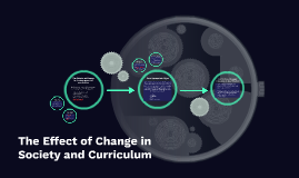 The Effect of Change in Society and Curriculum