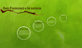 San Francesco e la natura