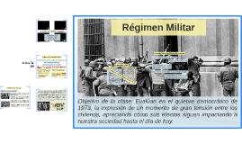 11 de septiembre 1973 régimen militar