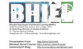 Blended High Impact Experiential Learning (BHIEL) NASPA Live Brief