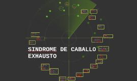 SINDROME DE CABALLO E