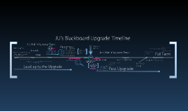 Copy of JU Blackboard 9.1 Upgrade Timeline